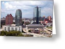 Downtown Knoxville Tennessee Skyline Greeting Card