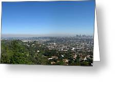 Downtown La From Griffith Observatory Greeting Card