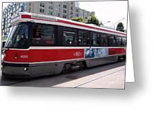 Downtown Light Rail Toronto Ontario Greeting Card