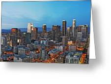 Downtown Los Angeles Greeting Card by Kelley King