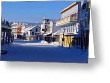 Downtown Mackinac In The Early Morning Greeting Card