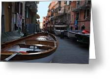 Downtown Manarola Greeting Card