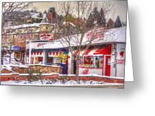 Patsy's Candies In Snow Greeting Card