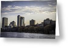 Downtown Milwaukee From Lakefront Greeting Card