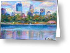 Downtown Minneapolis Skyline From Lake Calhoun Greeting Card