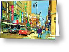 Downtown Montreal Eatons Centre Complex Les Ailes Old Navy Rue Mcgill College City Scenes  C Spandau Greeting Card