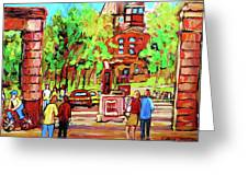 Downtown Montreal Mcgill University Streetscenes Greeting Card