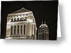 Downtown Monuments Greeting Card