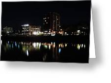 Downtown Morgantown From The Waterfront Greeting Card
