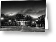 Downtown Murphy Nc In Black And White Greeting Card