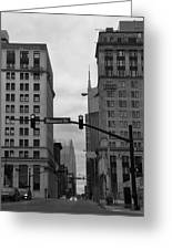Downtown Nashville In Black And White Greeting Card by Dan Sproul