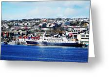 Downtown Of St. John's Greeting Card