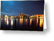 Downtown On The River Greeting Card