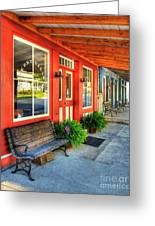 Downtown Perryville Greeting Card by Mel Steinhauer