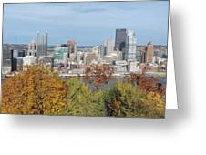 Downtown Pittsburgh From Mount Washington 4 Greeting Card