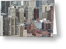 Downtown Pittsburgh From Mount Washington Greeting Card