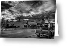 Downtown Sandpoint In Infrared 2 Greeting Card