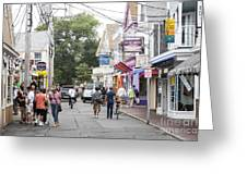 Downtown Scene In Provincetown On Cape Cod In Massachusetts Greeting Card