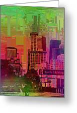 Downtown Seattle Cubed 1 Greeting Card