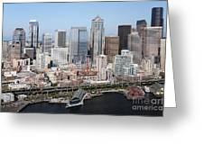 Downtown Seattle Washington City Skyline Greeting Card