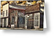 Downtown Silver Plume Greeting Card