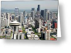 Downtown Skyline Of Seattle Greeting Card