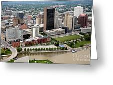 Downtown Skyline Of Toledo Ohio Greeting Card