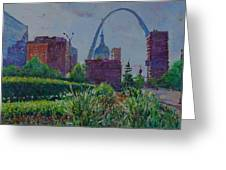 Downtown St. Louis Garden Greeting Card