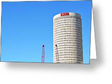 Downtown Tampa Photography - Leaning Tower Of Sykes - Sharon Cummings Greeting Card