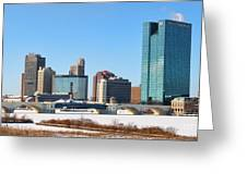 Downtown Toledo Riverfront 7132 Greeting Card