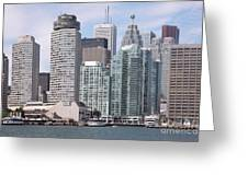 Downtown Toronto Ontario Greeting Card