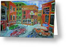 Downtown  Traffic Greeting Card