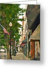 Downtown Usa Greeting Card