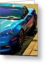 Downtown Vette - Modern Muscle Greeting Card