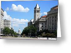 Downtown Washington Greeting Card
