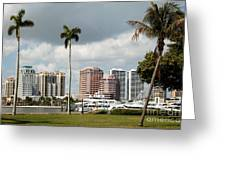 Downtown West Palm Beach Greeting Card