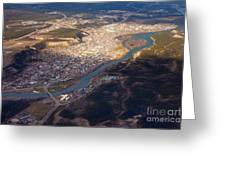 Downtown Whitehorse Yukon Territory Canada Greeting Card