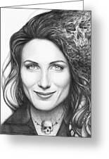 Dr. Lisa Cuddy - House Md Greeting Card by Olga Shvartsur