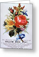 Dr Morse's Yellow Dock Root Syrup Greeting Card