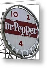 Dr. Pepper Illuminated Landmark Sign Greeting Card