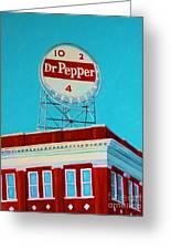 Dr Pepper Sign Roanoke Virginia Greeting Card