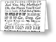 Dr Seuss Books 4 Greeting Card