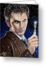 Dr Who #10 - David Tennant Greeting Card