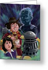 Dr Who 4th Doctor Jelly Baby Greeting Card