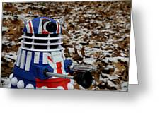 Dr Who - Forest Dalek Greeting Card