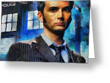 Dr Who Number 10  Greeting Card