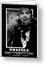 Dracula Movie Poster 1931 Greeting Card