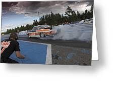 Drag Racing 3 Greeting Card