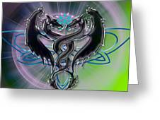 Dragon Duel Series 18 Greeting Card