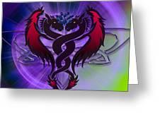 Dragon Duel Series 19 Greeting Card